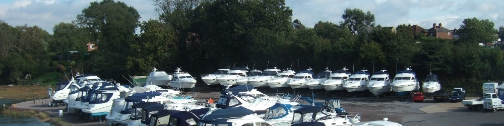 Storage ashore at our Swanwick marina